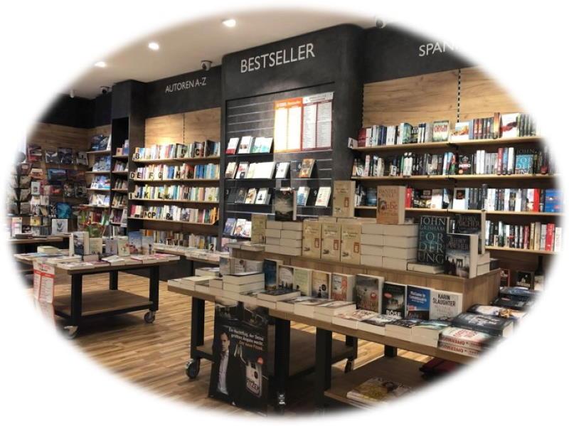 Blick in die Buchhandlung Müller Kastellaun Hunsrück
