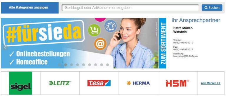 Bürobedarf & Büroartikel Online-Shop Müller Kastellaun Hunsrück