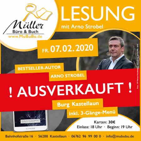 Lesung mit Arno Strobel in der Buchhandlung Müller Kastellaun Hunsrück